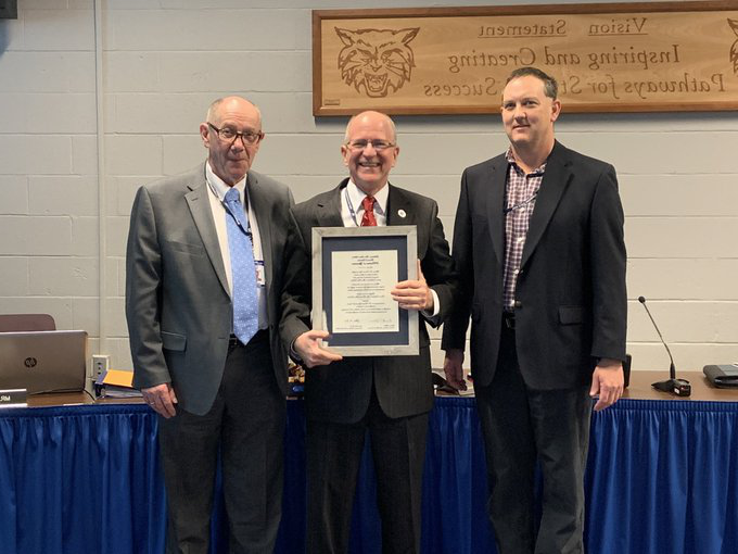 Dallastown+Area+School+District+honored+Dr.+Dyer+at+his+last+board+meeting+on+Thursday%2C+Dec.+12.+He+finished+his+45+years+of+service+to+the+community+at+the+beginning+of+the+new+year.